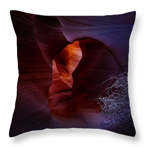 Antelope Throw Pillow featuring the photograph Antelope Canyon 4 by Ingrid Smith-Johnsen