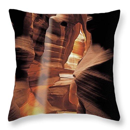 Antelop Canyon Throw Pillow featuring the photograph Antelope Canyon by John Douglas