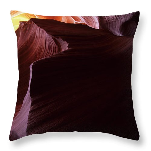 Antelope Canyon Throw Pillow featuring the photograph Antelope Canyon Sandstone Magic by Bob Christopher