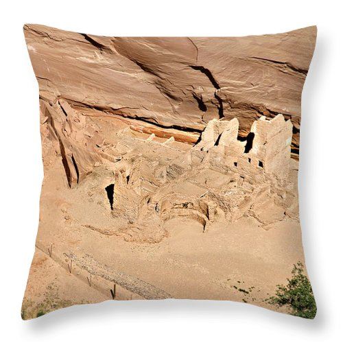 Antelope Throw Pillow featuring the photograph Antelope House Ruins Blending In by Christine Till