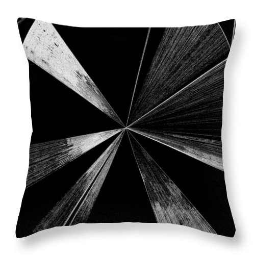 Antenna Throw Pillow featuring the digital art Antenna- Black And White by Will Borden