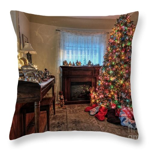 Christmas Throw Pillow featuring the photograph Anticipation by Chris Fleming
