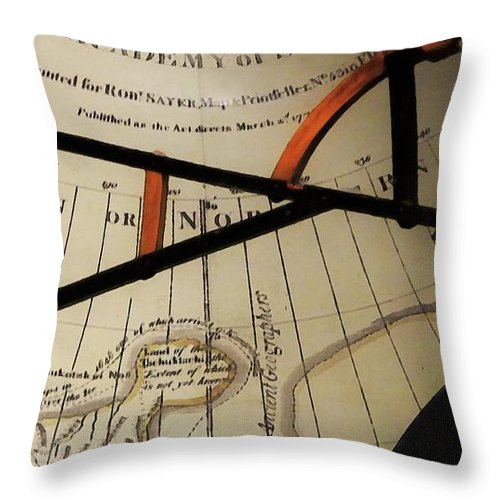 Antiques Throw Pillow featuring the painting Antiquaria Nautica by RC DeWinter