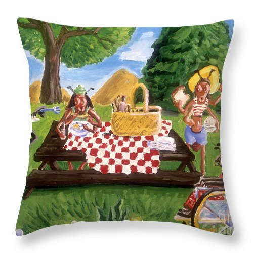 Ants At A Picnic Throw Pillow For Sale By James Mcfarlin 20 X 20
