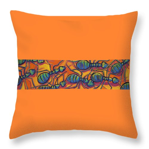 Ants Throw Pillow featuring the painting Ants by Ilene Richard