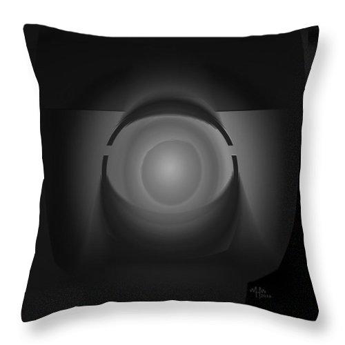 Geometric Abstract Greyscale Throw Pillow featuring the digital art Ap27bw3 by Warren Furman