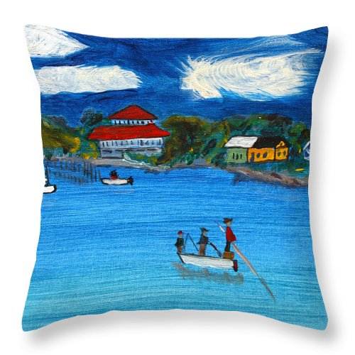 Apalachicola Throw Pillow featuring the painting Apalach by Maura Satchell