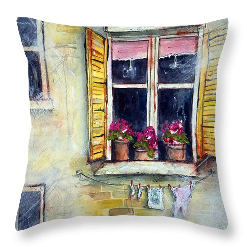 Apartment Throw Pillow featuring the painting Apartment 9 by Tim Ross