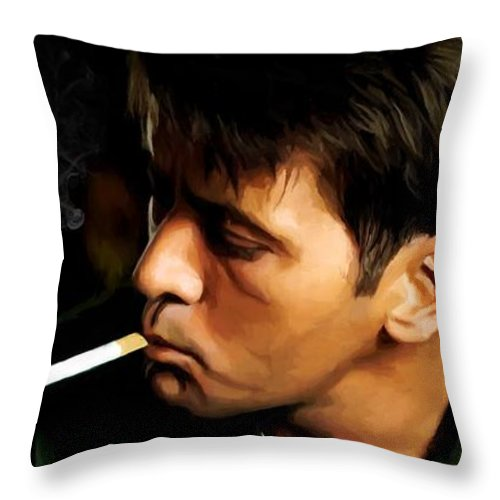Martin Sheen Throw Pillow featuring the digital art Apocalypse Now Painting #1 by Gabriel T Toro