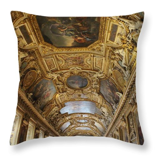 Paris Throw Pillow featuring the photograph Apollo Gallery by Nicholas Miller