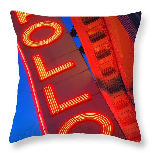 Apollo Throw Pillow featuring the photograph Apollo Nights by James Kirkikis