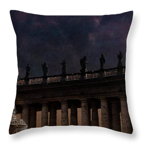 Vatican City Throw Pillow featuring the digital art Apostles And Saints by Sandra Selle Rodriguez