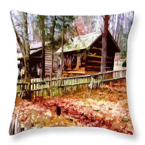 Appalachian Throw Pillow featuring the painting Appalachian Autumn by CHAZ Daugherty