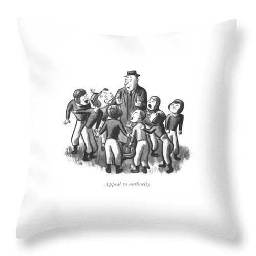 Appeal To Authority Throw Pillow