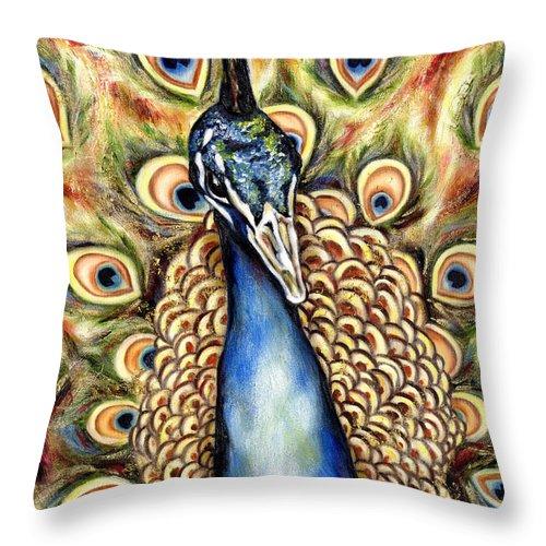 Bird Throw Pillow featuring the painting Applause by Hiroko Sakai