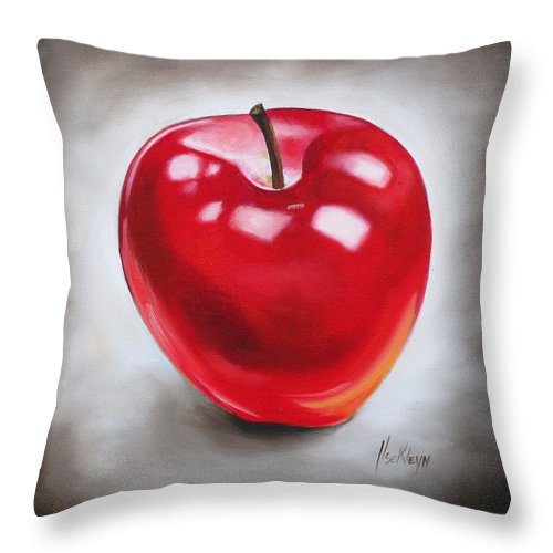 Apple Throw Pillow featuring the painting Apple by Ilse Kleyn