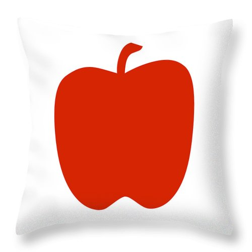 Apple Throw Pillow featuring the digital art Apple by Jackie Farnsworth
