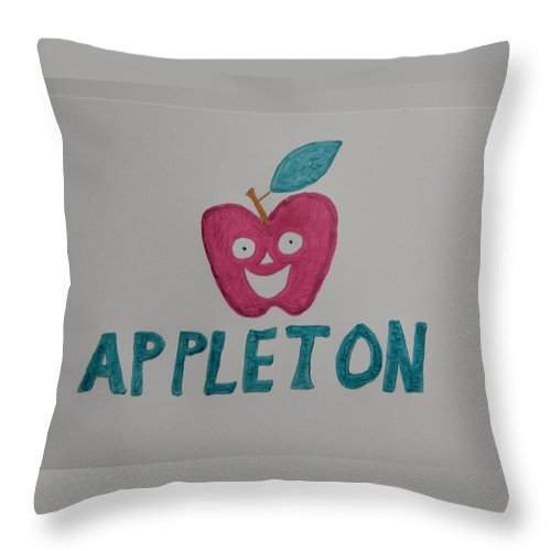 Apple Throw Pillow featuring the painting Appleton by Terry Baker