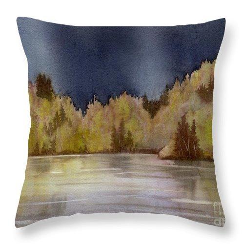 Storm Throw Pillow featuring the painting Approaching Rain by Lynn Quinn