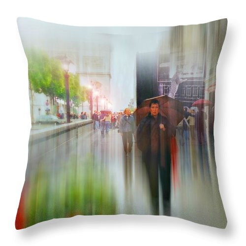 Paris France Throw Pillow featuring the photograph April In Paris by Diana Angstadt