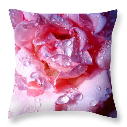 Palm Springs Throw Pillow featuring the photograph April Rose Palm Springs by William Dey