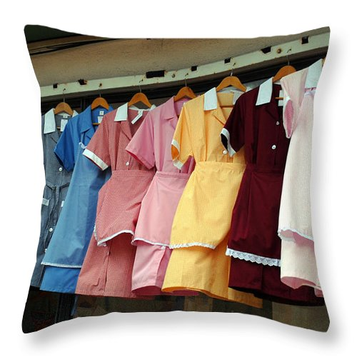 Photography Throw Pillow featuring the photograph Maids In Waiting by Dave Byrne