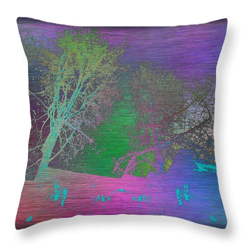Arbor Throw Pillow featuring the digital art Arbor In The City by Tim Allen