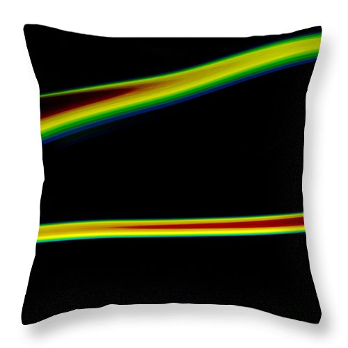 Abstract Throw Pillow featuring the painting Arc C2014 by Paul Ashby