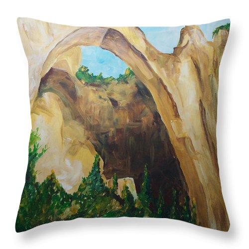 Floral Throw Pillow featuring the painting Arch by Eric Schiabor
