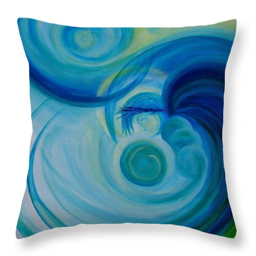 Archangel Throw Pillow featuring the painting Archangel Michael by Christine Cullen-Reed
