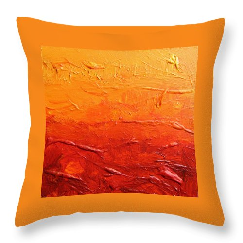 Arches Throw Pillow featuring the painting Arches Sunrise by Gordon Talley