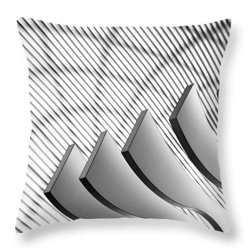 Shadow Throw Pillow featuring the photograph Architectural Abstract 4 - Interior Of by Lubilub