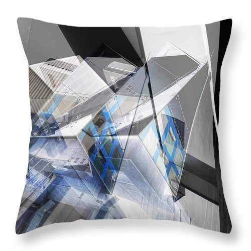 Abstract Throw Pillow featuring the photograph Architectural Abstract by Wayne Sherriff