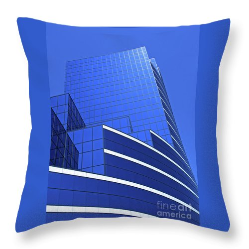 Architecture Throw Pillow featuring the photograph Architectural Blues by Ann Horn