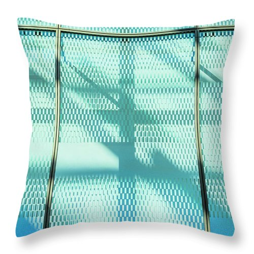 Berlin Throw Pillow featuring the photograph Architectural Detail Of Modern Shopping by Ingo Jezierski