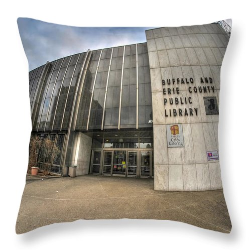 Architecture Throw Pillow featuring the photograph Architecture And Places In The Q.c. Series Becpl by Michael Frank Jr
