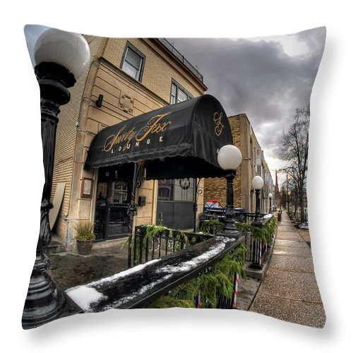 Architecture Throw Pillow featuring the photograph Architecture And Places In The Q.c. Series Snooty Fox by Michael Frank Jr