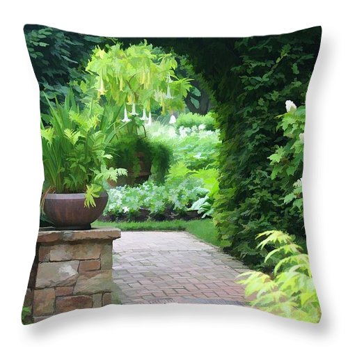 Nature Throw Pillow featuring the photograph Archway by Joyce Baldassarre