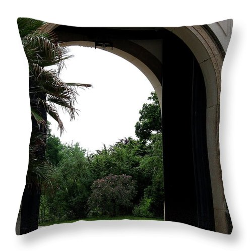 Archway Throw Pillow featuring the photograph Archway Pillnitz Castle by Christiane Schulze Art And Photography