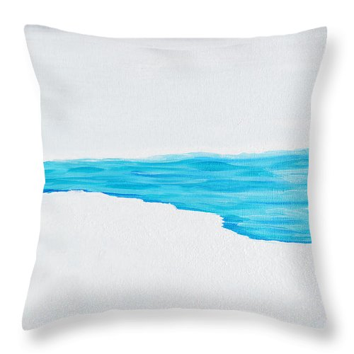 Acrylic Painting Throw Pillow featuring the painting Arctic Blast by Sherry Allen