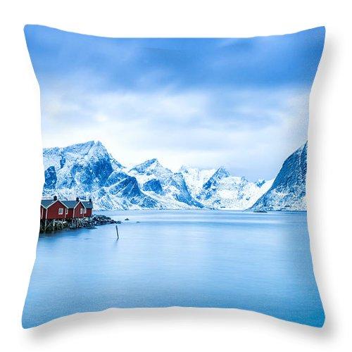 2013 Throw Pillow featuring the photograph Arctic Dawn Lofoten Islands by Richard Burdon