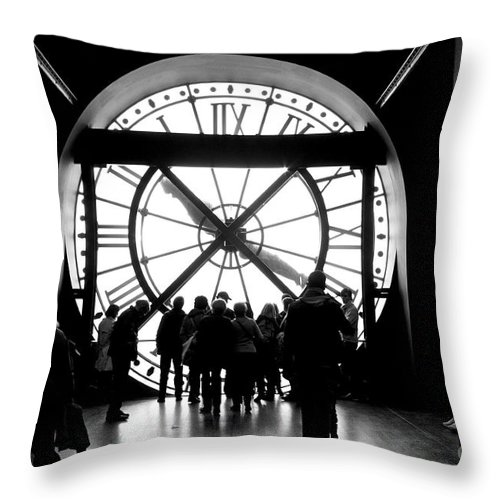 Time Throw Pillow featuring the photograph Are We In Time... by Donato Iannuzzi