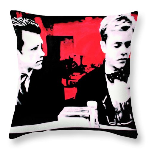 Laura Palmer Throw Pillow featuring the painting Are You Talking About That Little Girl That Got Murdered  by Luis Ludzska