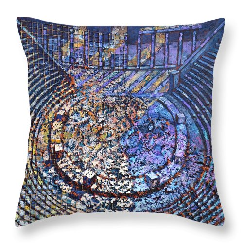 Arena Throw Pillow featuring the painting Arena Song by Mark Jones