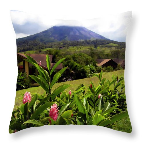 Tropical Throw Pillow featuring the photograph Arenal Costa Rica by Kurt Van Wagner