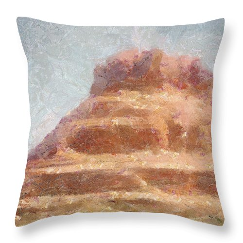 United States Of America Throw Pillow featuring the painting Arizona Mesa by Jeffrey Kolker