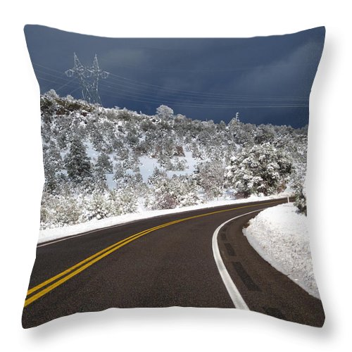 Throw Pillow featuring the photograph Arizona Snow 2 by Gregory Daley MPSA