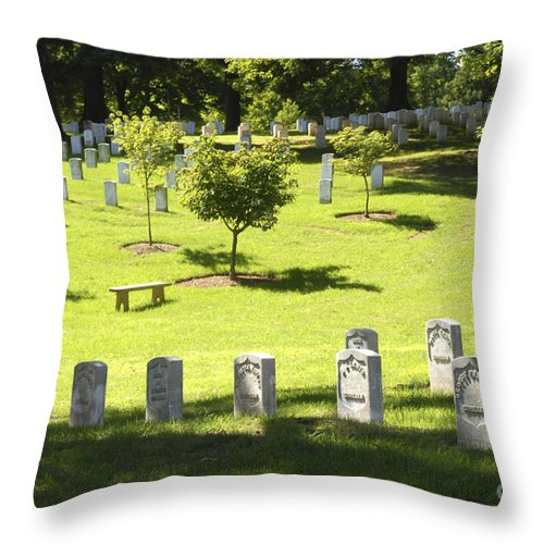 Arlington Throw Pillow featuring the photograph Arlington National Cemetery - 540 by Paul W Faust - Impressions of Light