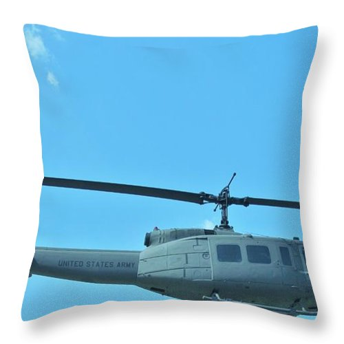 Helicopters.helicopter Pictures Posters Paintings Photographs Greeting Cards Throw Pillow featuring the photograph Army Helicopter by Donna Wilson