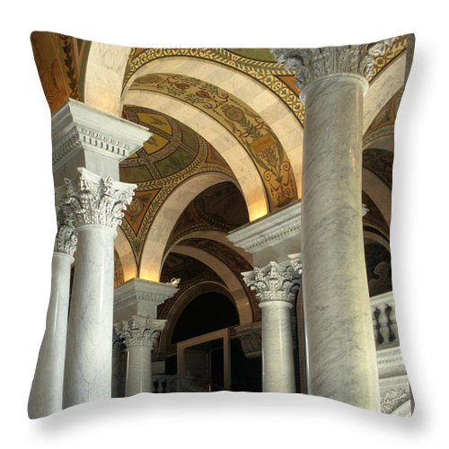 Jefferson Hall Throw Pillow featuring the photograph Around And About by Sharon M Connolly
